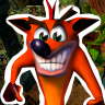 Completed Crash Bandicoot (PlayStation)